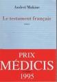Couverture Le Testament français Editions Mercure de France 1995