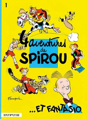Couverture Spirou et Fantasio, tome 01 : Quatre aventures de Spirou... et Fantasio