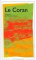 Couverture Le Coran Editions Flammarion (GF) 1993