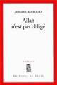 Couverture Allah n'est pas obligé Editions Seuil 2000