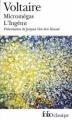 Couverture Micromégas, L'Ingénu Editions Folio  (Classique) 2002