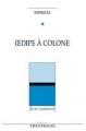 Couverture Oedipe à Colone Editions Théâtrales 1989