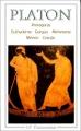 Couverture Protagoras, Euthydème, Gorgias, Ménèxène, Ménon, Cratyle Editions Flammarion (GF) 1967