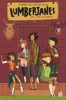 Couverture Lumberjanes, tome 1 : L'ange-chat redoutable