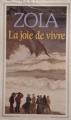 Couverture La joie de vivre Editions Flammarion (GF) 1974