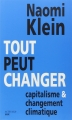 Couverture Tout peut changer Editions Actes Sud 2015
