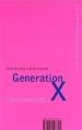 Couverture Génération X Editions Abacus 1996