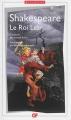 Couverture Le Roi Lear Editions Flammarion (GF - Bilingue) 2014