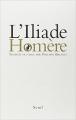 Couverture L'Iliade / Iliade Editions Seuil 2010
