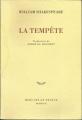 Couverture La tempête Editions Mercure de France 1997