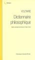 Couverture Dictionnaire philosophique Editions Garnier (Classiques) 2008