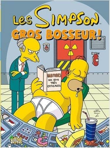 Couverture Les Simpson, tome 08 : Gros Bosseur !