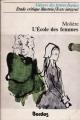 Couverture L'Ecole des femmes Editions Bordas (Univers des lettres) 1973