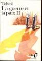Couverture La Guerre et la Paix / Guerre et paix (2 tomes), tome 2 Editions Folio  1988