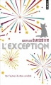 Couverture L'exception Editions Points 2016