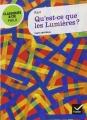Couverture Qu'est ce que les lumières ? Editions Hatier (Classiques & cie - Philosophie / Philo) 2012
