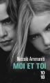 Couverture Moi et toi Editions 10/18 (Domaine étranger) 2016