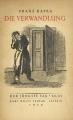 Couverture La métamorphose Editions Gallimard  1938