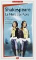 Couverture La Nuit des Rois (ou Ce que vous voudrez) Editions Flammarion (GF - Bilingue) 2014