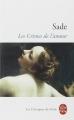 Couverture Les crimes de l'amour Editions Le Livre de Poche (Les classiques de poche) 1994
