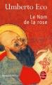 Couverture Le nom de la rose Editions Le Livre de Poche 2012