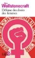 Couverture Défense des droits des femmes Editions Folio  (2 €) 2016