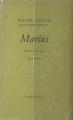 Couverture Trilogie marseillaise, tome 1 : Marius Editions Fasquelle 1946