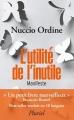 Couverture L'utilité de l'inutile Editions Hachette (Pluriel) 2016