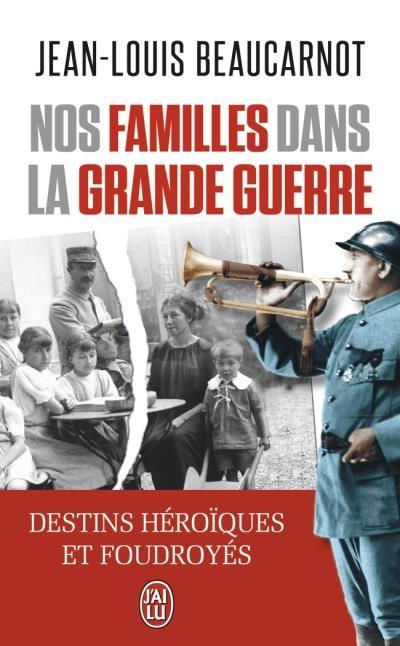 Couverture Nos familles dans la Grande Guerre