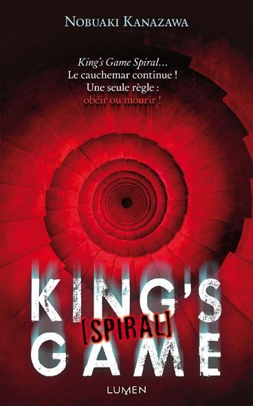 Couverture King's Game (roman), tome 3 : Spiral