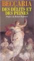 Couverture Des délits et des peines Editions Flammarion 1965
