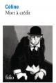 Couverture Mort à crédit Editions Folio  2014