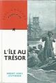 Couverture L'île au trésor Editions Nathan (Bibliothèque Rouge et or) 1995