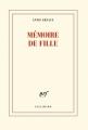 Couverture Mémoire de fille Editions Gallimard  (Blanche) 2016