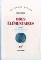 Couverture Odes élémentaires Editions Gallimard  (Du monde entier) 1974