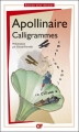Couverture Calligrammes Editions Flammarion 2013