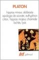 Couverture Hippias mineur - Alcibiade - Apologie de Socrate - Euthyphron - Criton - Hippias majeur - Charmide - Lachès - Lysis Editions Gallimard  (Tel) 1991