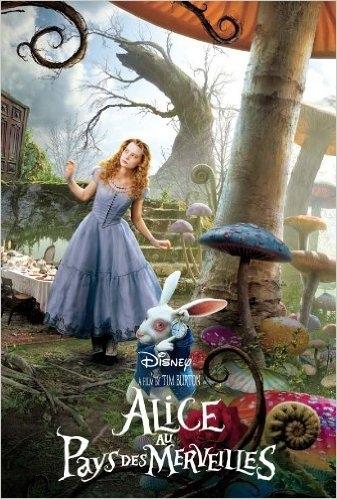 Couverture Alice au pays des merveilles : Le livre du film de Tim Burton