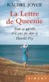 Couverture La lettre de Queenie Editions France Loisirs (Piment) 2016