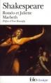 Couverture Roméo et Juliette suivi de Macbeth Editions Folio  (Classique) 2001