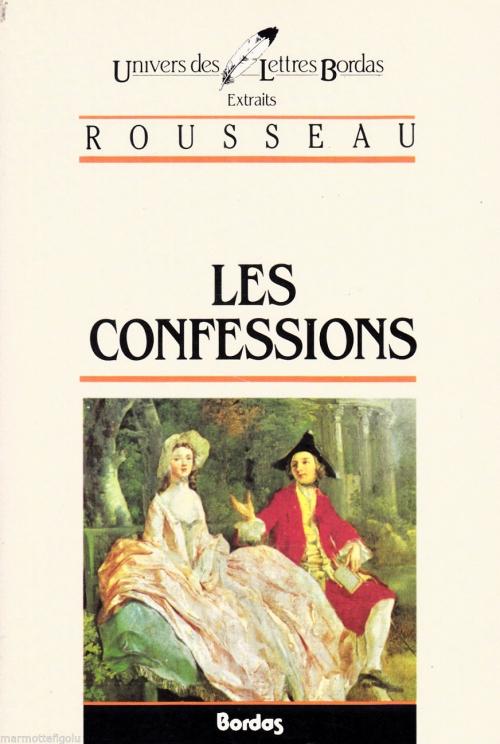 Couverture Les confessions, extraits