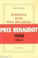 Couverture Hadriana dans tous mes rêves Editions Gallimard  (Blanche) 1988