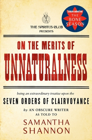 Couverture On the Merits of Unnaturalness (The Bone Season)