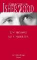 Couverture Un homme au singulier Editions Grasset (Les Cahiers Rouges) 2014