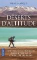 Couverture Déserts d'altitude Editions Pocket 2016