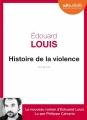 Couverture Histoire de la violence Editions Audiolib 2016