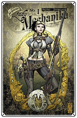 Couverture Lady Mechanika, tome 1 : Le mystère du corps mécanique, 1ère partie