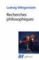 Couverture Recherches philosophiques Editions Gallimard  (Tel) 2014