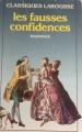 Couverture Les fausses confidences Editions Larousse (Classiques) 1973