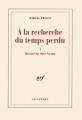 Couverture Du côté de chez Swann Editions Gallimard  (Blanche) 1992
